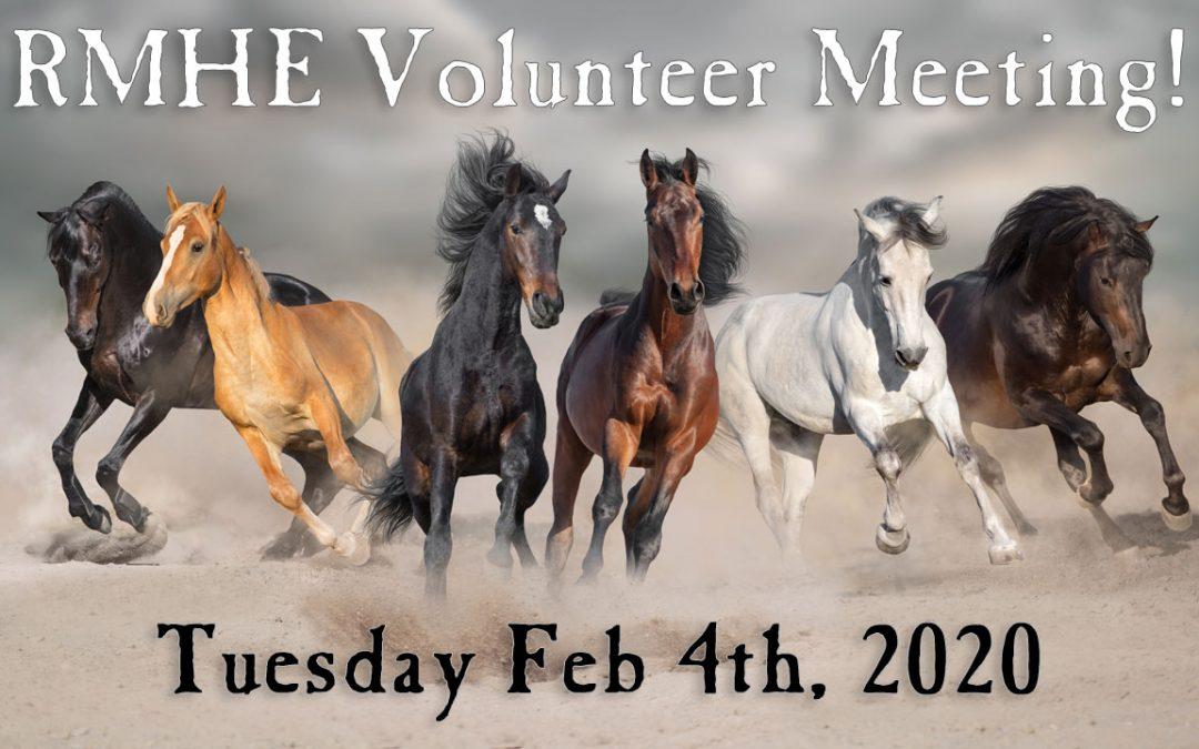 Volunteers Needed @ The Rocky Mountain Horse Expo